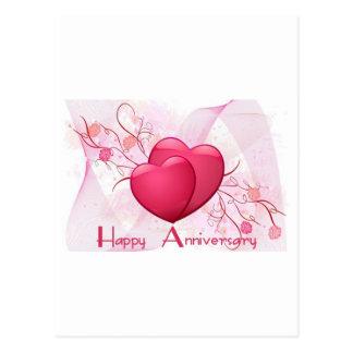Happy Anniversary Hearts Post Card