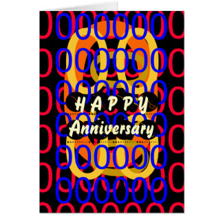 HAPPY Anniversary - Illuminated Golden Cage Greeting Card