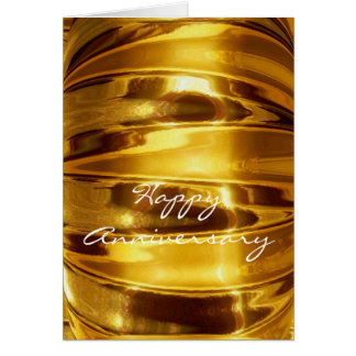 Happy Anniversary in Sparkling Gold Greeting Card