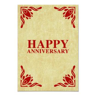 happy anniversary 3.5x5 paper invitation card