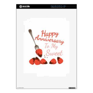 Happy Anniversary iPad 2 Decals