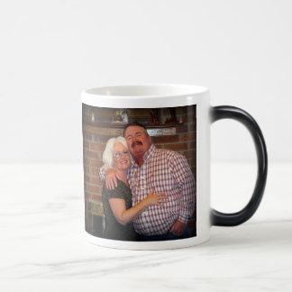 Happy Anniversary John and Sandra Magic Mug