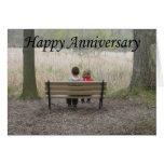 Happy Anniversary - Kids on Bench Card