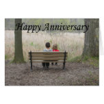 Happy Anniversary - Kids on Bench Greeting Card
