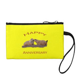 Happy Anniversary Kiss Change Purse