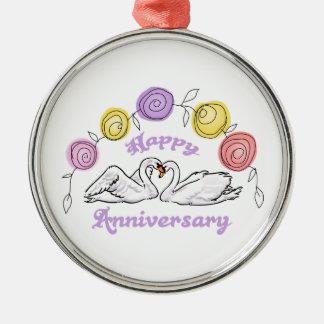 Happy Anniversary Metal Ornament