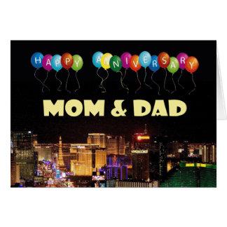 HAPPY ANNIVERSARY MOM & DAD Las Vegas Card