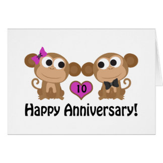 Happy Anniversary Monkeys Card