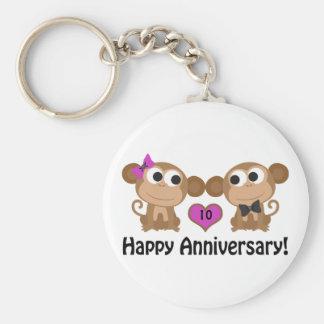 Happy Anniversary Monkeys Keychain
