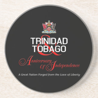 Happy Anniversary of Independence T&T Sandstone Coaster