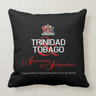 Happy Anniversary of Independence T&T Throw Pillow