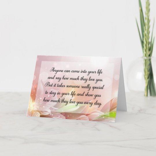 Happy Anniversary Or Birthday Love Quote Card Zazzle