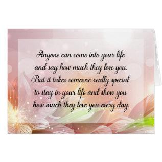 Happy Anniversary Or Birthday Love Quote Card at Zazzle