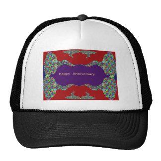 Happy Anniversary - Oriental Art Emotional Touch Mesh Hat