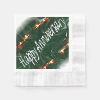 Happy Anniversary Paper Napkin