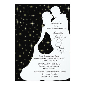 Happy Anniversary Party White Wedding Dancing Silo Card