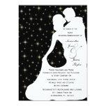 Happy Anniversary Party White Wedding Dancing Silo Personalized Invitation