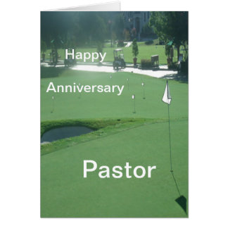 Happy Anniversary Pastor Card