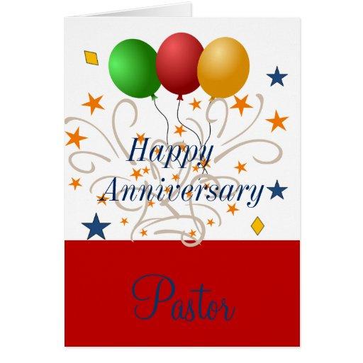 Happy anniversary pastor card zazzle