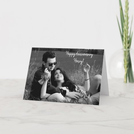 Happy Anniversary, Personalized Photo Card