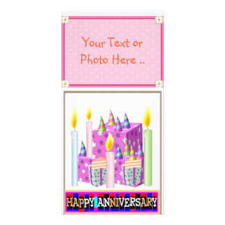 HAPPY Anniversary Photo Card .. Unique Ideas