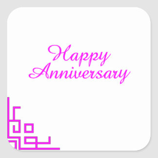 Happy Anniversary Pink Stickers