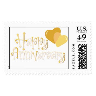 Happy Anniversary Postage Stamp