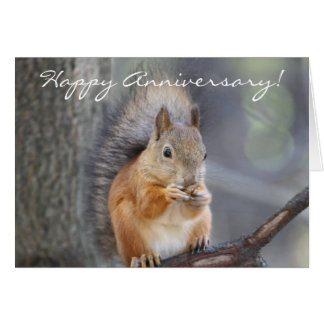 Happy Anniversary Red Squirrel greeting card
