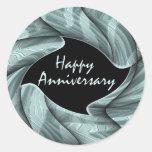 Happy Anniversary Round Stickers