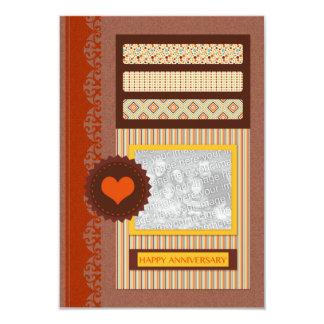 happy anniversary (scrapbook) 3.5x5 paper invitation card