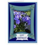 Happy Anniversary, Simplicity in purple Greeting Card