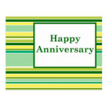 happy anniversary : spring striped postcards