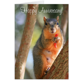 Happy Anniversary Squirrel Greeting Card