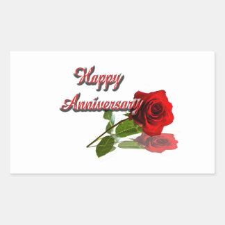 Happy Anniversary Rectangular Stickers