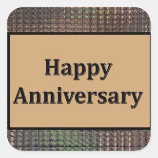 Happy Anniversary Square Stickers