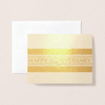Professional Business Happy Anniversary Stripe Foil Card