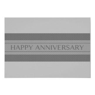 happy anniversary stripe 3.5x5 paper invitation card