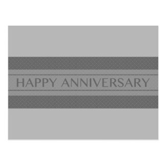 happy anniversary stripe postcard