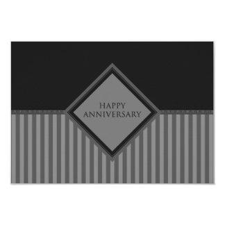 happy anniversary stripes 3.5x5 paper invitation card