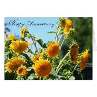 Happy Anniversary Sunflower Greeting card