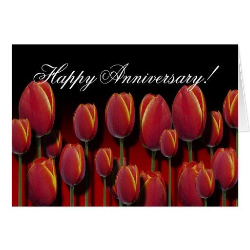 Happy Anniversary template Card (Tulip Jungle)
