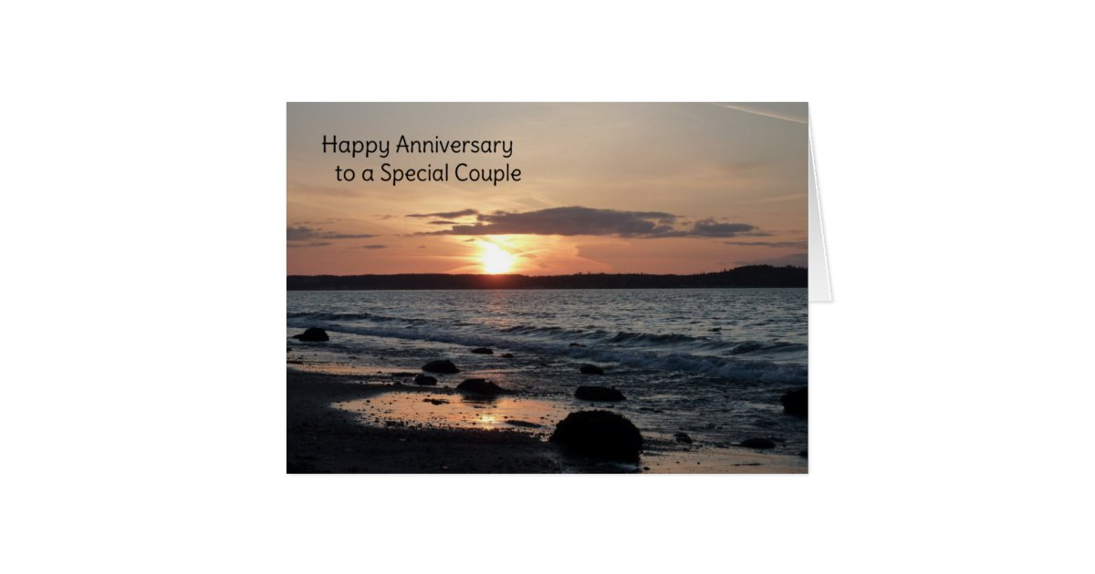 happy anniversary to a special couple card