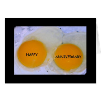 Happy Anniversary To An Egg-stra Special Couple Card