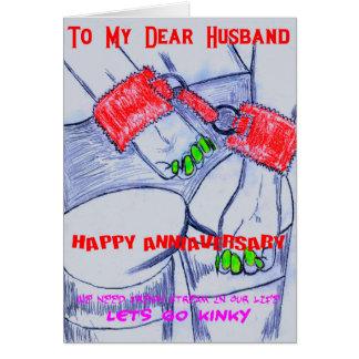 HAPPY ANNIVERSARY to husband Greeting Card