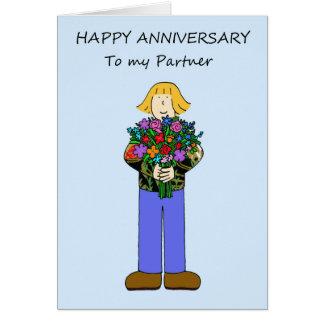 Happy Anniversary to lesbian partner. Card