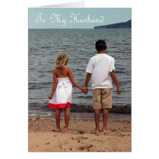 Happy Anniversary To My Husband - Love Of My Life Greeting Card