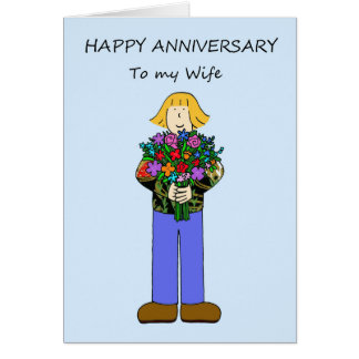 Happy Anniversary to my lesbian wife. Card