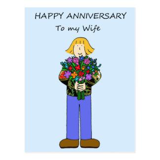Happy Anniversary to my lesbian wife. Postcard