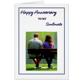 Happy Anniversary to my Soul Mate Card