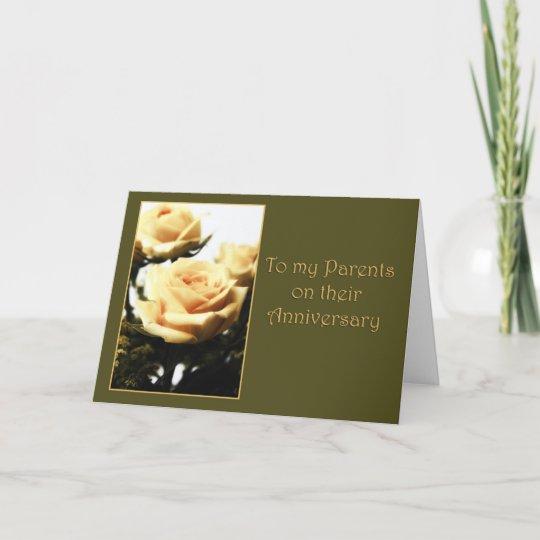 Happy Anniversary to Parents Card | Zazzle.com